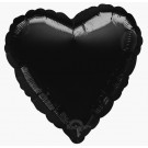 18'' Black Heart Foil Balloon