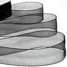 Black Organza Ribbon 70mm