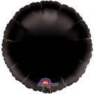 18'' Black Round Foil Balloon