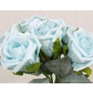 6 Luxury Blue Medium Roses