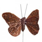 Chocolate Brown Small Feather Butterflies