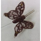 Brown Sheer Organza Butterflies