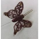 Brown Sheer Organza Butterflies