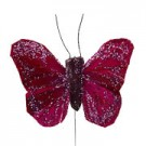 Burgundy Small Feather Butterflies