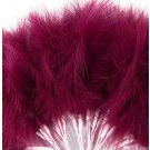 Burgundy Fluff Feathers