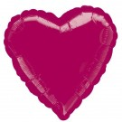 18'' Burgundy Heart Foil Balloon