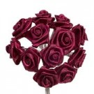 Burgundy Satin Ribbon Roses