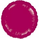 18'' Burgundy Round Foil Balloon