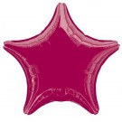 19'' Burgundy Star Foil Balloon