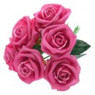 6 Luxury Cerise Pink Medium Roses