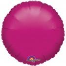 18'' Cerise Pink Round Foil Balloon