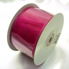 Cerise Pink Ribbon Wired Organza 75mm