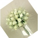 Cream Rose Shimmer Bridal Posy Bouquet