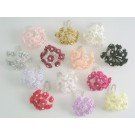 Pink Diamante Ribbon Roses