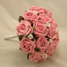 Pink Rose Diamante Posy Bouquet