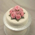 Set of 2 Pink Rose Organza Cake Toppers