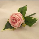 Pink Rose Diamante Buttonhole