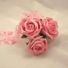 Pink Rose Organza Wand