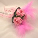 Pink Rose Feather Mini Wand