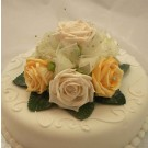 Cream & Gold Rose Diamante Cake Topper