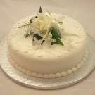 Ivory Rose Corsage Cake Topper