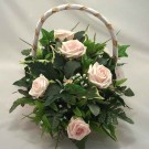 Light Pink Rose Flowergirl's Basket