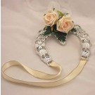 Cream Rose Lucky Horseshoe