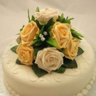 Gold & Cream Rose Luxury Cake Topper