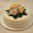 Gold & Cream Rose Luxury Cake Topper