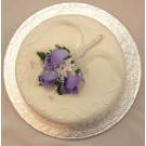 Lilac Rosebud Corsage Cake Topper