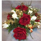 Red & Ivory Rose Table Arrangement