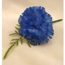 Blue Carnation Fern Buttonhole