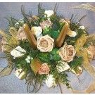 Gold & Ivory Rose Table Arrangement