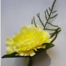 Gold Carnation Fern Buttonhole