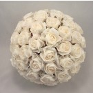Large Crimped Cream Rose Posy