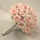 Mixed Pink Rose Diamante Bridal Posy