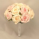 Cream & Light Pink Rose Table Posy