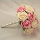 Pink & Cream Bridesmaid's Posy