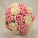 Pink & Cream Rose Bridal Bouquet