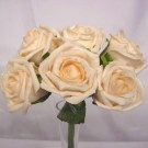 6 Luxury Cream Medium Roses
