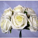 6 Luxury Ivory Medium Roses