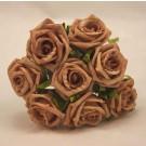 8 Mocha Small Open Roses