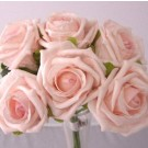 6 Luxury Light Pink Medium Roses