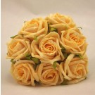 8 Gold Small Open Roses