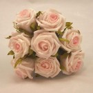 8 Light Pink Small Open Roses