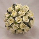 Ivory Rosebud Table Posy