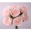 8 Luxury Light Pink Rosebuds