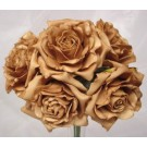5 Luxury Open Mocha Roses