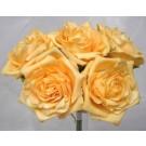 5 Luxury Open Gold Roses