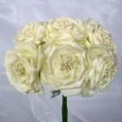 6 Luxury Wild Ivory Roses
